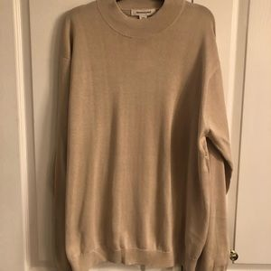 NWT Men's beige silk & cotton sweater